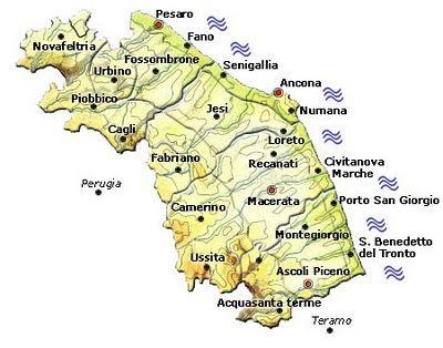 Cartina Le Marche.Risultati Immagini Per Cartina Fisica Dell Marche Loreto San Giorgio Mappe