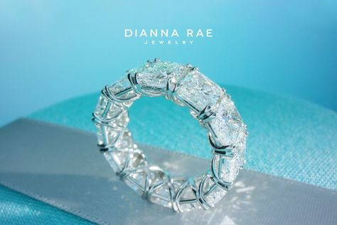 12 Carat Radiant Diamond Eternity Band Dianna Rae Jewelry Eternity Band Diamond Radiant Diamond Eternity Bands
