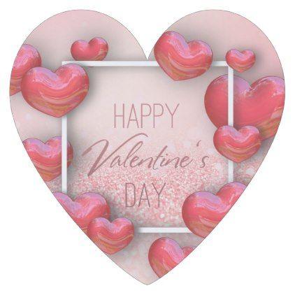 Valentine\'s Day Red Hearts Glitter Paper Coaster - Saint ...