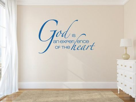 Inspirational Wall Decal. God Is An Experience - CODE 010