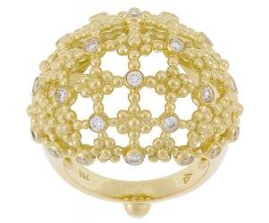 18K Fiori Bombe Ring with Diamonds
