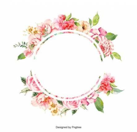 55 Ideas Flowers Bouquet Beautiful Colour Flower Frame Png Flower Backgrounds Floral Border Design