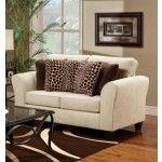 Chelsea Home Furniture - Verona Connor Kahluea Linen Loveseat - 4002-KL  SPECIAL PRICE: $540.00