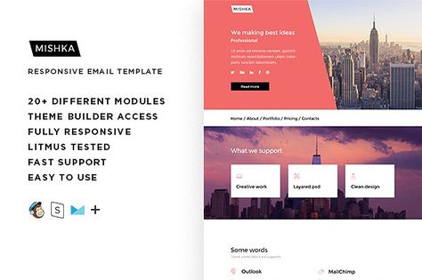 Mishka – Responsive Email template