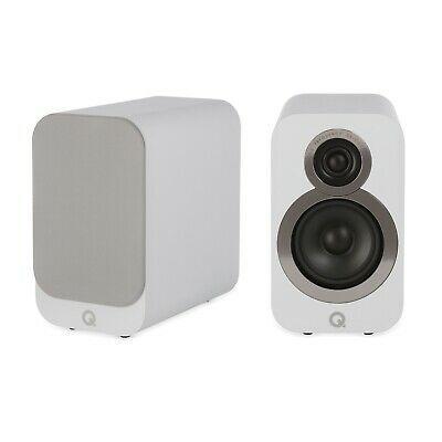 Ad Ebay Link Q Acoustics 3010i Compact Bookshelf Speakers Pair Arctic White Bookshelf Speakers Speaker Small Speakers