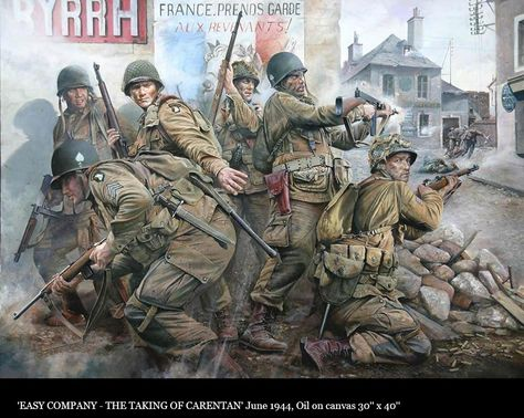 'Easy Company' - The Taking of Carentan. Carentan making the Easy Company, Parachute Regiment, Airborne Division, Normandy