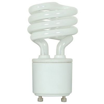 13w 120v T2 Gu24 Mini Spiral Cfl Bulb 2 Pack Fluorescent Light Bulb White Light Bulbs Compact Fluorescent Bulbs