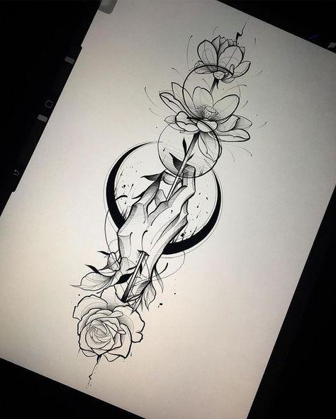 tattoo art Gabriel Chapel sur Ins - tattoos Body Art Tattoos, New Tattoos, Hand Tattoos, Girl Tattoos, Small Tattoos, Tattoos For Women, Tatoos, Wrist Tattoo, Tiny Tattoo