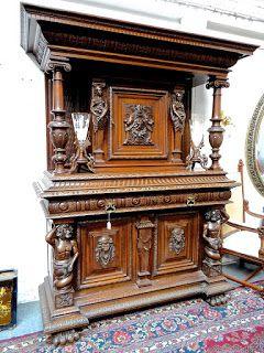 большой резной буфет 19 й век Carved Furniture