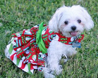 Items Similar To Dog Harness Dress Custom Made For Spring And