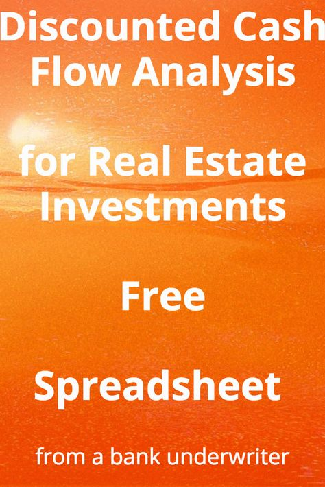 Discounted Cash Flow (DCF) Excel Model Pinterest - real estate investment spreadsheet