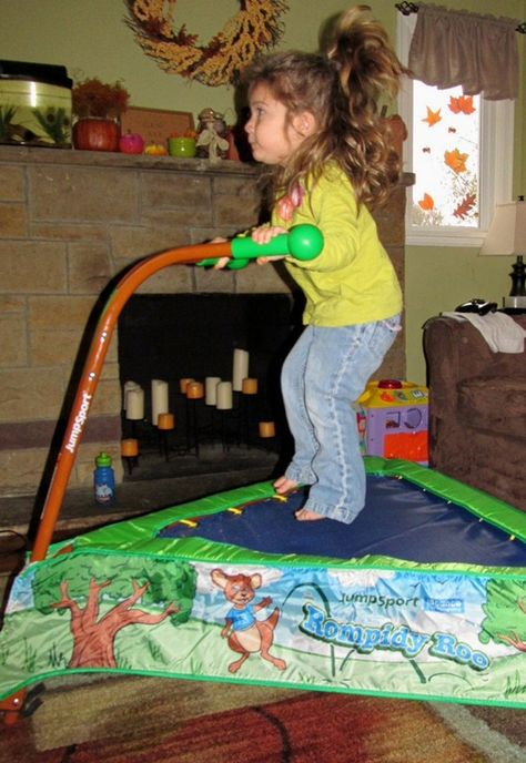 Awesome way for the kids to get exercise in the winter! JumpSport iBounce Kids Trampoline!