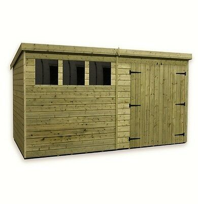 Wooden Garden Shed 10x8 12x8 14x8 Pressure Treated Tongue And Groove Pent Shed Wooden Sheds Shed Plans Pallet Shed Plans