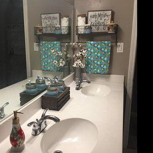 Basket Towel Rod Bathroom Organizer Kitchen Organizer Bathroom