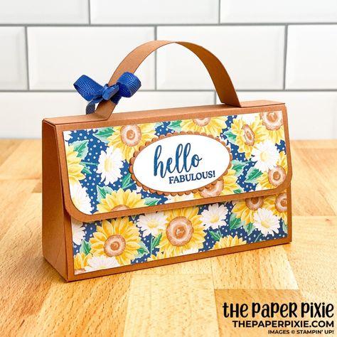 Papel Scrapbook, Scrapbook Paper Crafts, Scrapbooking, Paper Crafting, Paper Purse, Paper Bags, Clutch Tutorial, Tutorial Sewing, Sunflower Cards