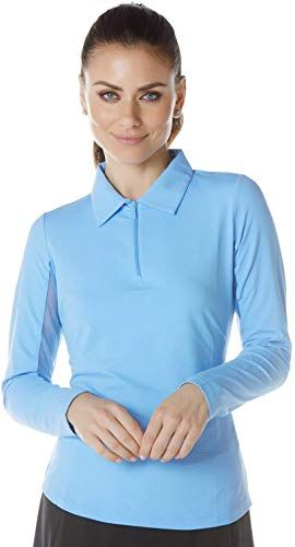 Buy Ibkul Women S Sun Protective Upf 50 Cooling Long Sleeve Polo