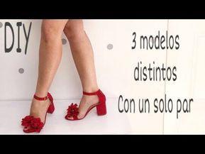Diy Como Hacer 3 Modelos De Sandalias Con Solo Un Par Paso A Paso Zapatos De Moda Verano 2018 Youtube Diy Ropa Diy Shoes Fabric Flowers Diy
