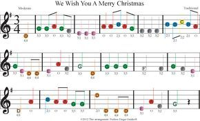 Easy Violin Sheet Music For We Wish You A Merry Christmas With