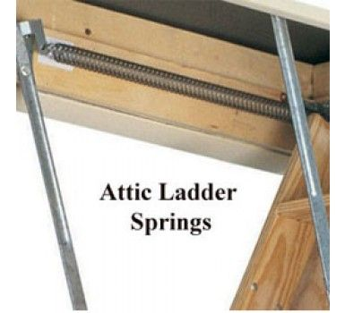 Attic Ladder Replacement Springs Pair With Images Attic Ladder Attic Ladder