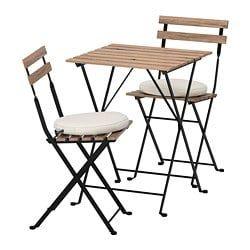 TÄRNÖ Table+2 chaises, extérieur, teinté brun noir teinté
