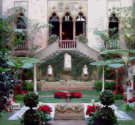 Beautiful glassed in courtyard at Isabella Stewart Gardner museum -