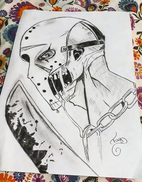 Jason Voorhees Jason Desenhos Arte Crianca Desenhos
