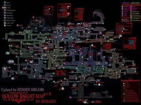 Mapa Completo Hollow Knight.Hollow Knight Maps Of Hallownest Em 2019 Jogos