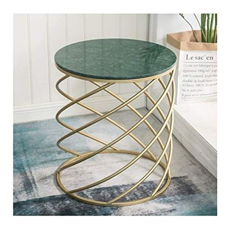 Xiaomei Nordic Wrought Iron Marble Side Table Living Room Balcony