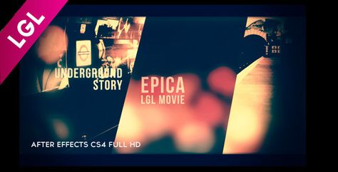 Epica Cinematic Movie Trailer  AE CS4 FULL HD template movie trailer with 13 video placeholders (pictures can also be used). Duration: 1 minute 27 seconds. Included PDF Help file. No third-party plugin needed (Cycore FX (CC) plugins coming with full AE versions are required). Easy customization and fast render process.