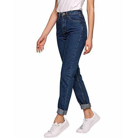 Women Vintage boyfriend high waisted jean