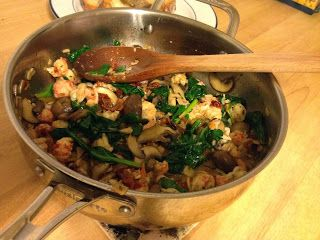 Langastino Lobster Spinach Mushrooms And Sun Dried Tomato