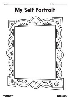 Self Portrait Frames Worksheets With Images Portrait Frame