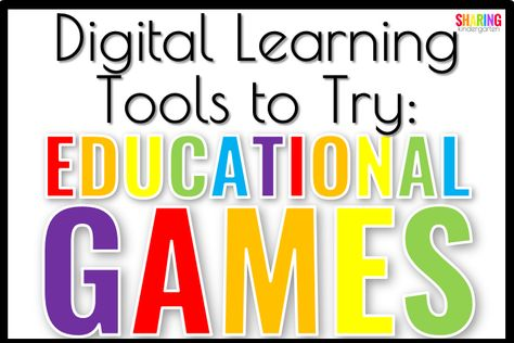 Educational Games Digital Learning Tools Educational Games