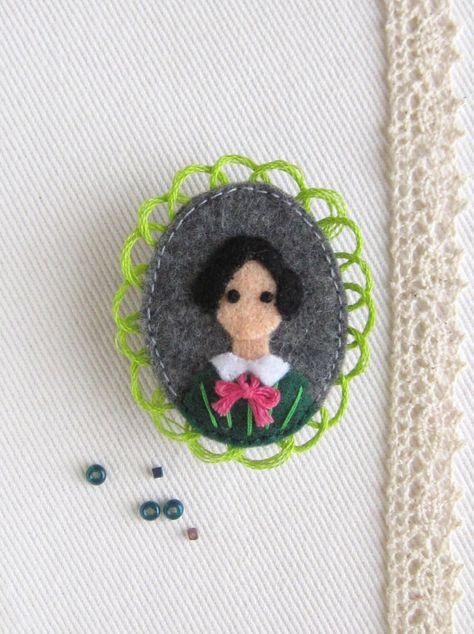 Jane Eyre Victorian Literature Felt Brooch by StoryFolk on Etsy, $42.00
