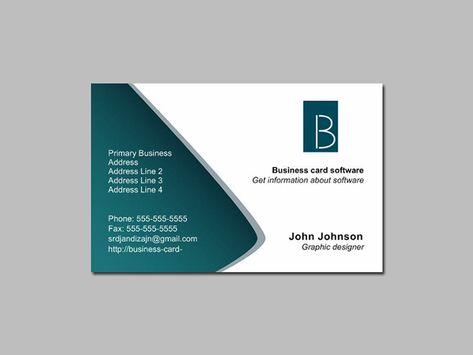 Business Visitenkarten Design Kostenlos Auch Business