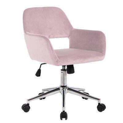 Mila Task Chair Color Blush Frame Color Chrome En 2020 Chaise Bureau Fauteuil Bureau Design Bureau A Domicile