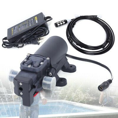Dc 12v Misting System Set High Pressure Water Booter Pump 0 60 Degree Celsius Diy Water Pump High Pressure Misting