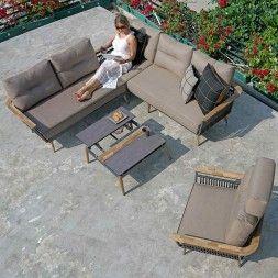 Kettler Ocean Dininglounge Aluminium Polster Garten Freizeit Lounge Sessel Schuppen Lounge