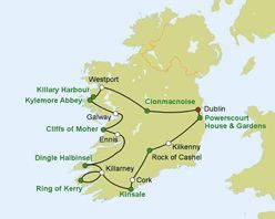Irland Rundreise Autorundreise Wild Atlantic Way Reiseverlauf 2016