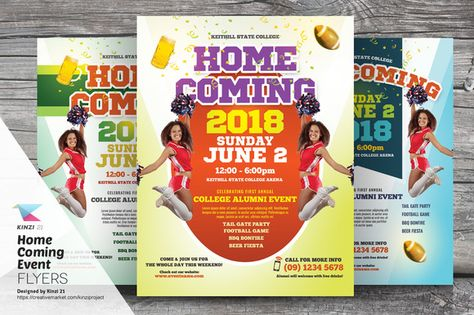 Homecoming Event Flyer Templates by kinzi21 on @creativemarket - Seminar Flyer