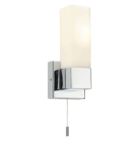 Endon Square 1lt Wall Light Bathroom Light Endon Square 1lt Wall Light Bathroom Light Intense Straight Bathroom Light Fittings Wall Lights Glass Wall Lights