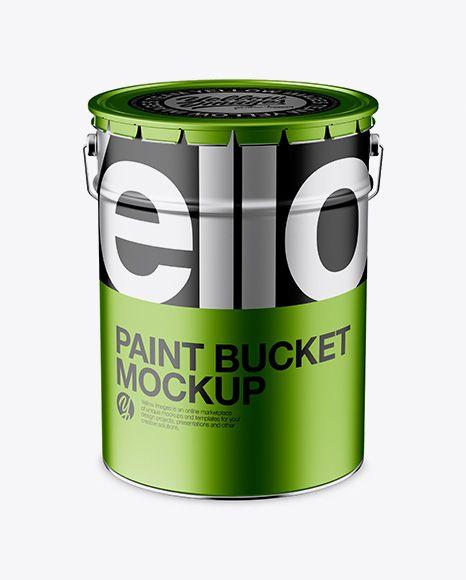 Free Mockups Metallic Paint Can Psd / Metallic Paint Can