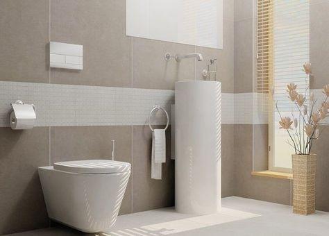 Badezimmer modern beige  fliesen-grau-badezimmer-modern-beige-grau-ihausdekor-badezimmer ...