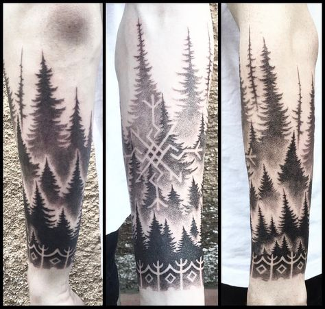 In hindsight - one of the most hipster tattoos i have ever done, nonetheless i really enjoyed the challenge and creating the runes and soft…