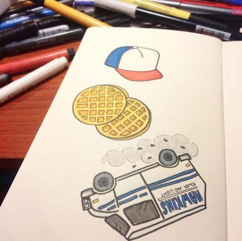Sticker Doodles Breakfast Doodle Waffle Drawing Dibujos A Lapiz Faciles Dibujos Artisticos A Lapiz Dibujos A Lapiz Tumblr