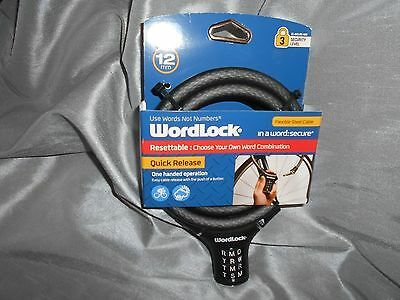 Sponsored Ebay Wordlock In A Word Secure Black 6ft Combination
