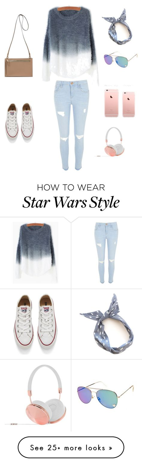 """""""Untitled #82"""" by licihinds on Polyvore featuring River Island, Converse, Frends, women's clothing, women's fashion, women, female, woman, misses and juniors"""