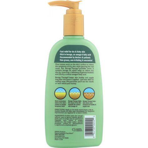 SHIKAI: Borage Therapy Dry Skin Lotion Original Unscented, 8 oz