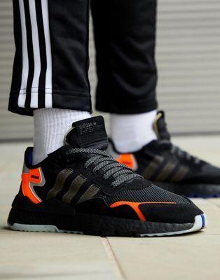 adidas Originals Nite Jogger Trainers in black CG7088 in