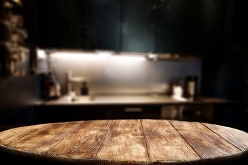 Wooden Table Background Of Free Space For Your Decoration And